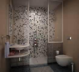 bathroom in grey tile