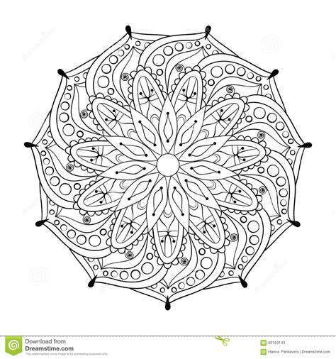vintage patterns coloring pages zentangle stylized elegant round indian mandala stock