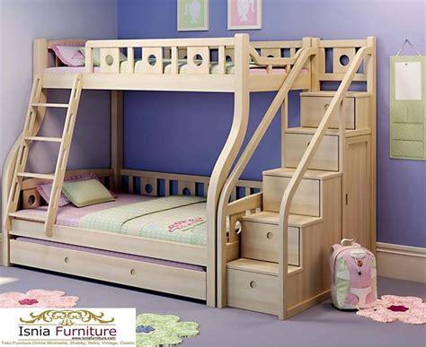 Dipan Kayu Sorong tempat tidur tingkat kayu jati terlaris ranjang tingkat anak