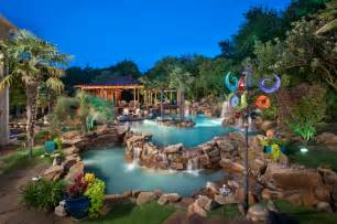 Above Ground Pool Backyard Ideas Tropical Oasis As Seen On Animal Planet The Pool Master