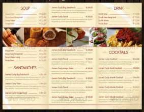 food menu template 30 food menus templates for caf 233 and restaurants ginva