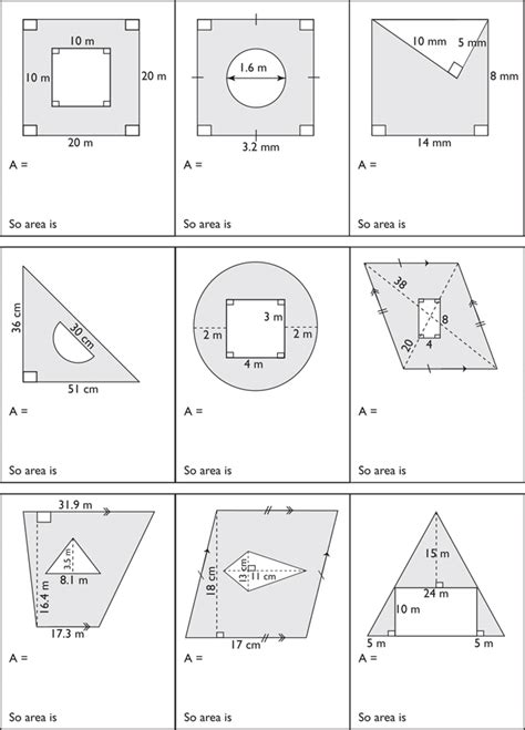 printable area of composite figures area of composite shapes worksheet worksheets