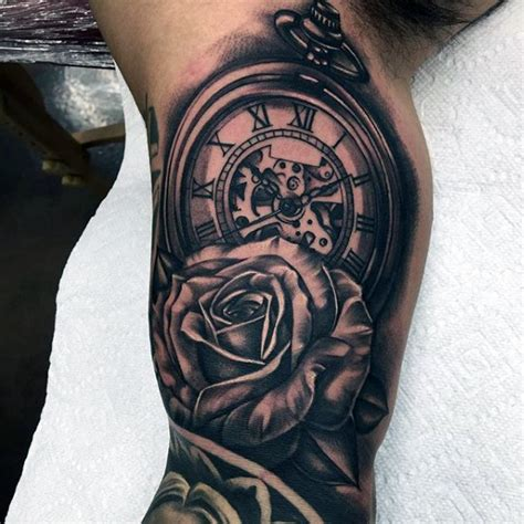 rose tattoos on upper arm 200 popular pocket and meanings 2017