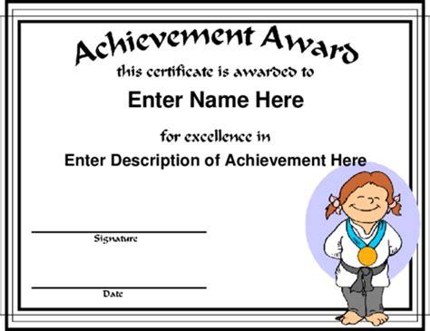 martial certificate templates free award certificate templates