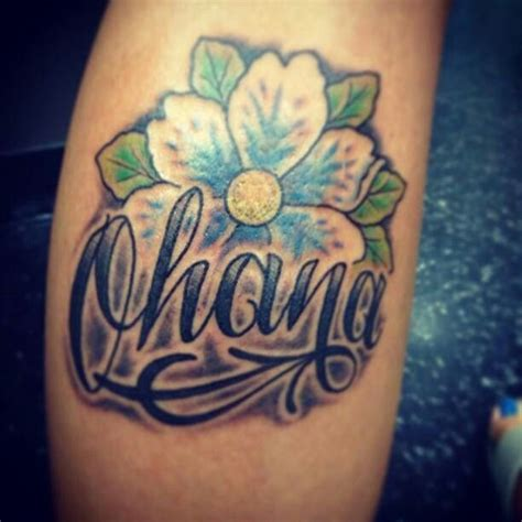 my 2nd tattoo ohana for my family ohana means family