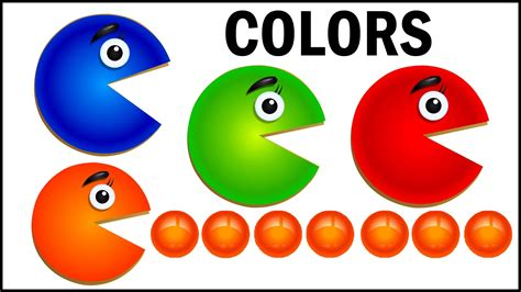 teach baby colors learn colors with packman teach colours baby