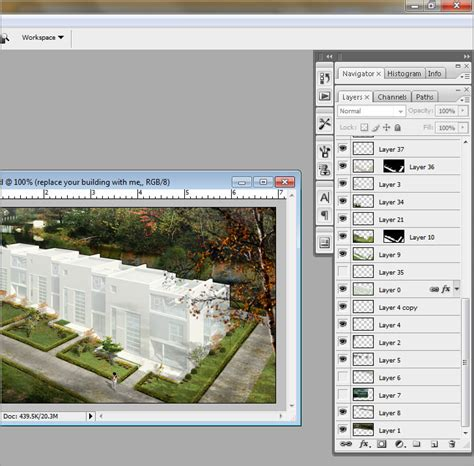 Layered Photoshop Psd Files Architectural Perspective Renderings And Templates Layered Photoshop Templates