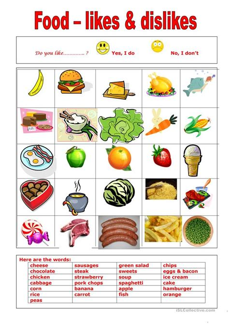 Do You About Black Foods 2 by Food Do You Like Worksheet Free Esl Printable