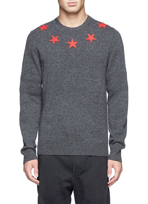 Sweater Givenchy Givenchy Embroidery Sweater In Gray For Lyst