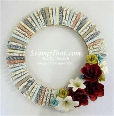 Handmade Decorative Items - handmade home decor wreath card stock flowers comfort