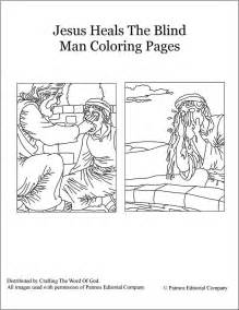 jesus heals the blind man coloring pages 171 crafting the