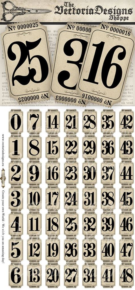 printable vintage fonts best 25 vintage numbers ideas on pinterest number fonts