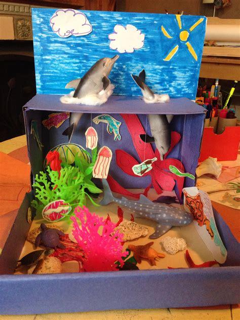 free printable ocean diorama ocean habitat diorama homeschool science projects