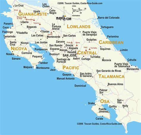 san jose pacifico map mapas viajes por costa rica