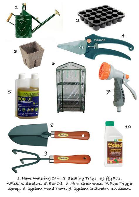 gardening tools list