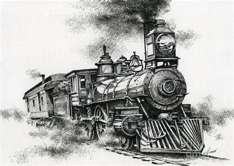spirit of steam drawing by james williamson