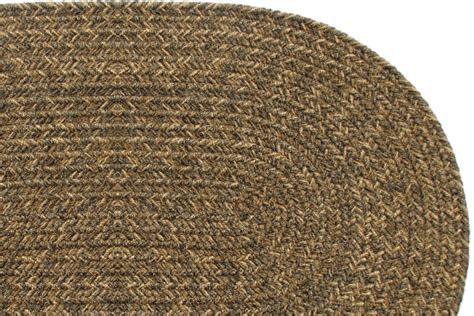 yukon brown braided rug