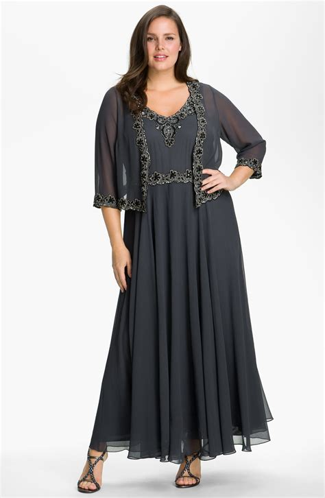 j kara beaded gown j kara beaded chiffon gown jacket in gray grey black