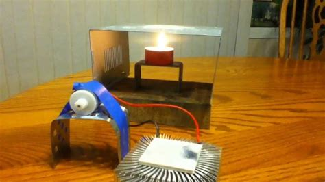 thermoelectric fan powered by a candle simple candle powered thermoelectric device youtube