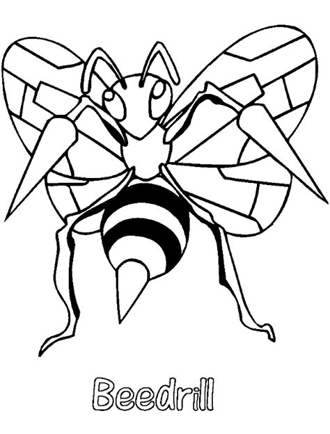 pokemon coloring pages mega beedrill neoteric design inspiration pokemon coloring pages