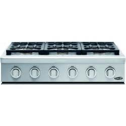 36 Inch Gas Cooktop Dcs 36 Inch Professional 6 Burner Propane Gas Cooktop