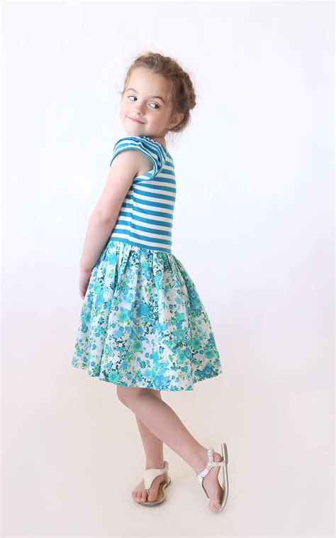 simple pattern for little girl dress the quot hello spring quot girls dress free pattern in size 4 5
