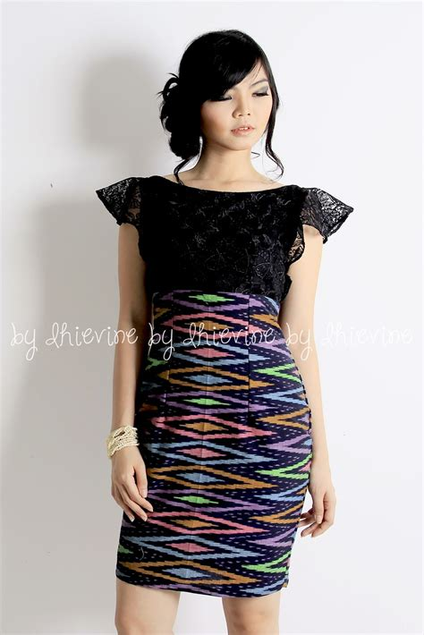 dress design rangrang ikat dress kebaya dress off shoulder dress tenun