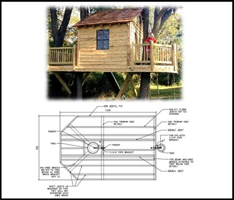 tree house plans two trees 8 x 12 rectangular treehouse plan standard treehouse plans attachment hardware