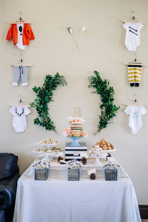 Modern Woodland Themed Baby Shower   Pretty My Party