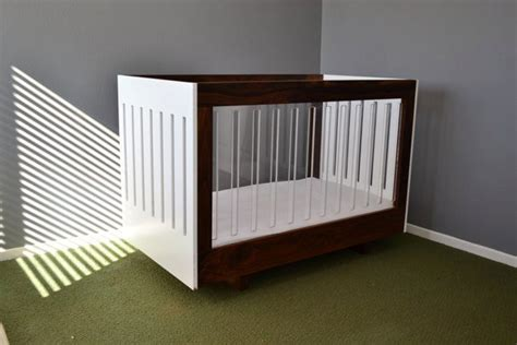 Acrylic Baby Crib by Walnut And Acrylic Baby Crib For By Outsane