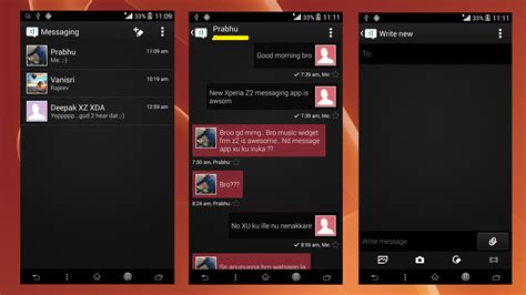 xperia themes apk kitkat install xperia z2 black themed message kitkat app port
