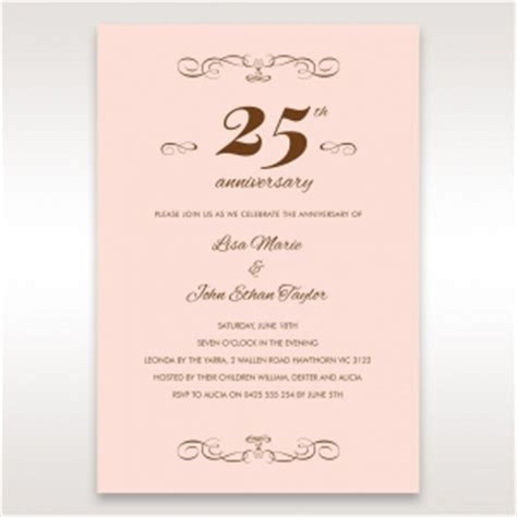 Wedding Anniversary Cards 25 Years by Wedding Anniversary Invitation Cards By Adorn