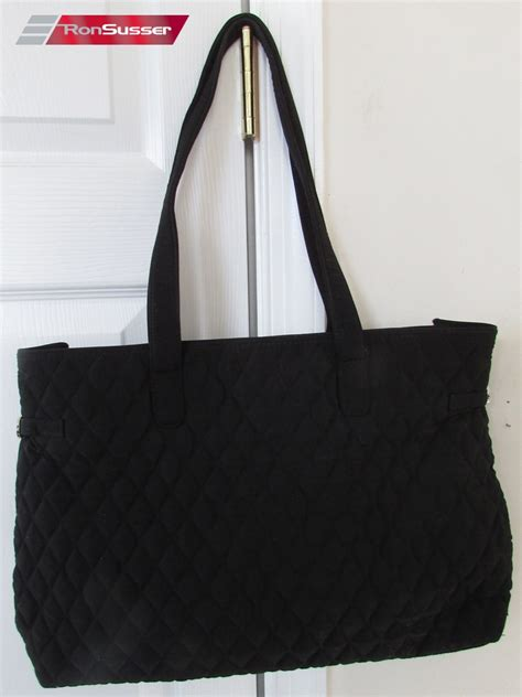 Vera Bradley Black Quilted Tote by Vera Bradley Quilted Laptop Travel Purse Tote Messenger