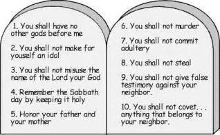 a modern reading of the ten commandments eim chai lites