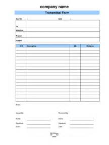 document form template document transmittal form