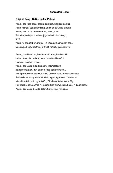 download lagu hivi pelangi asam dan basa lirik lagu nidji laskar pelangi