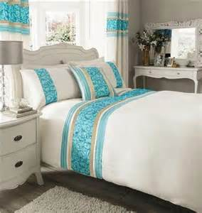 cream and teal bedroom single size duvet cover bed set teal cream luxury faux
