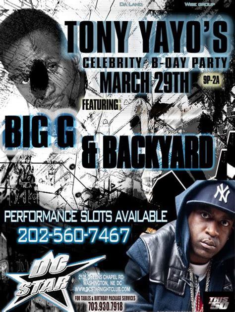 Big G Backyard Band by Tony Yayo S B Day Bash Featuring Big G