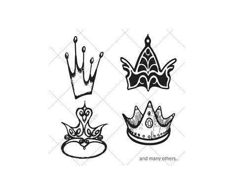 royal crown vector pack mix   crowns vector