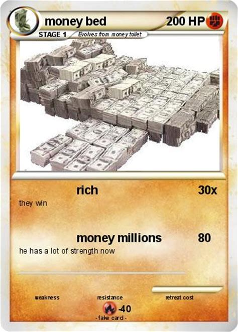 money bed pok 233 mon money bed rich my pokemon card