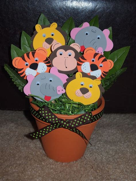 jungle themed centerpieces for baby shower adorable jungle theme baby shower or birthday centerpiece