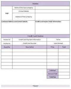 Credit Card Payment Template Uk 28 Free Invoice Template With Credit Card Payment Option