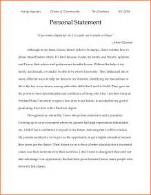 Graduate Essay Sles by 6 Personal Statement Exles Graduate School Sales Report Template