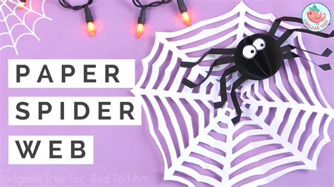How To Make A Paper Spider - easy paper spider web craft for ted s