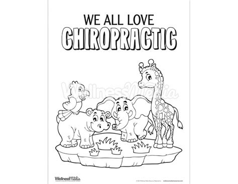 free coloring pages of kids chiropractic