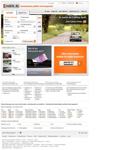 mobile da study quot filter in webshops quot das beispiel mobile de