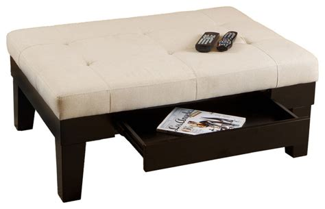 tucson fabric storage ottoman coffee table