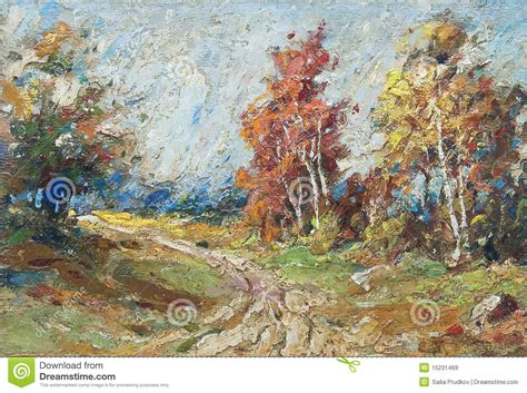 painting free version painting forest stock illustration image of
