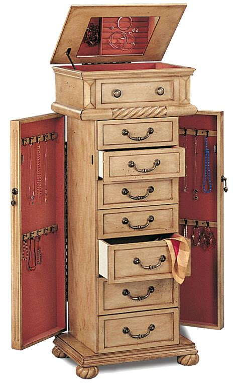 Jewellery Armoires by Jewelry Armoires Jewelry Armoire In A Light Green Tint