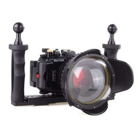 underwater camera housing 40m underwater waterproof camera housing diving case for sony rx100 iv m4 red filter